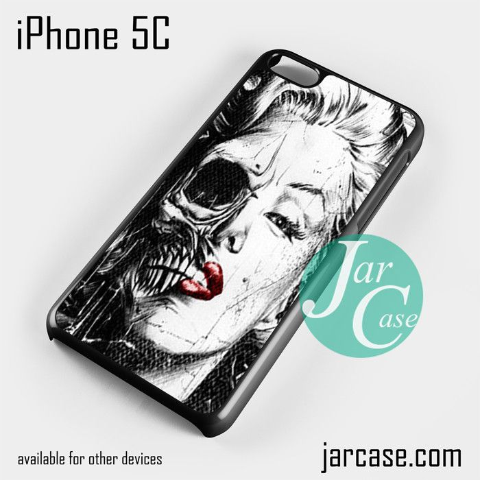 merlyn monroe skull art Phone case for iPhone 5C and other iPhone devices