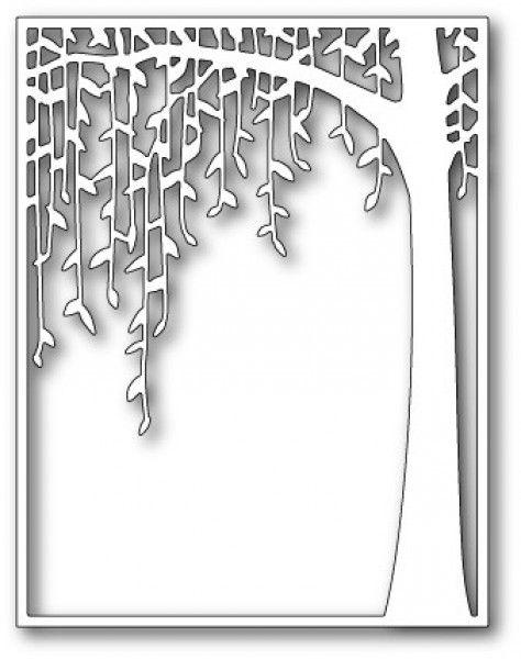 Poppystamps Stanzform Trauerweide im Rahmen / Weeping Willow Archway 1479 -  Breite 10,8 cm x Höhe 14 cm - 25,95 €