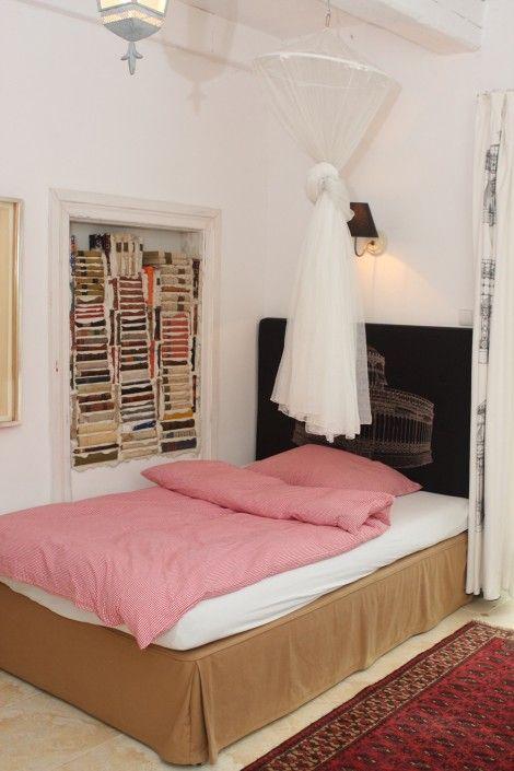 The bedroom in one of the apartments in Siedlisko, Blanki 46, Poland www.siedliskoblanki.com