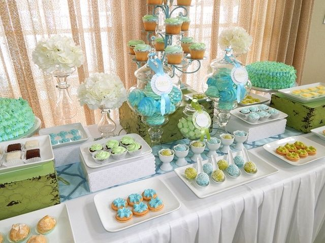 Dessert table at a Baptism Party #baptism #party