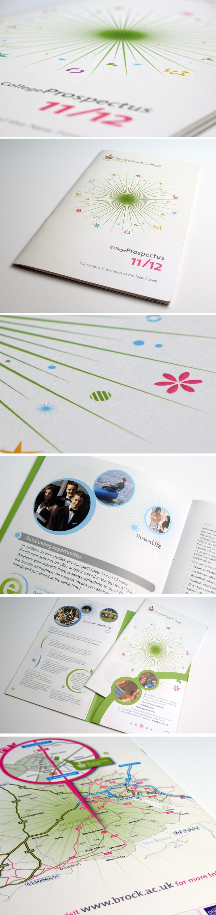 Design And Layout Of The Sixth Form Prospectus For Brockenhurst College Designed By