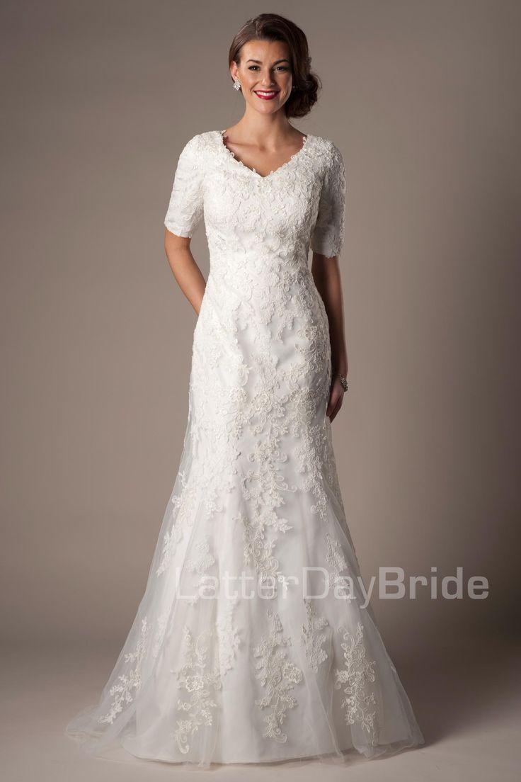80 best modest wedding dresses images on pinterest short for Modest wedding dress designers
