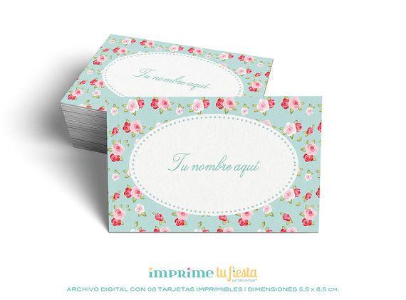 Lindas TARJETAS PERSONALES listas para imprimir y personalizadas para ti! por ImprimeTuFiesta