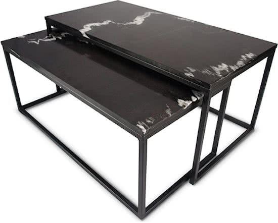 Zwart marmer salontafels