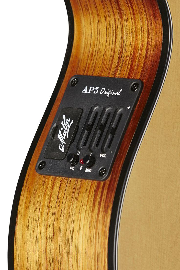 Australian, Handmade, Acoustic EMS 12 from Maton Guitars. AP5 Pre-amp Close-up.