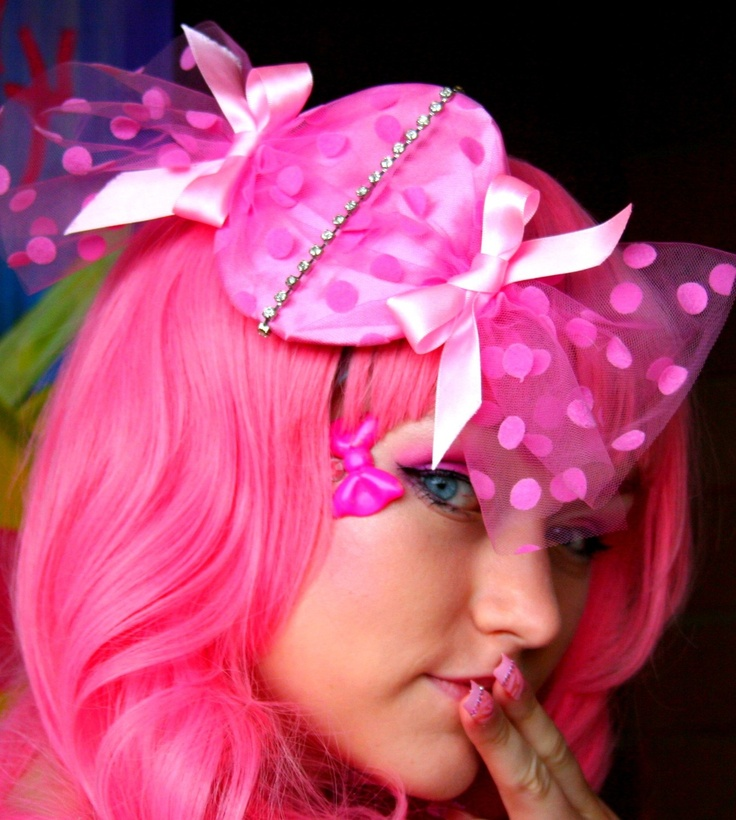 Pink hair and candy hat