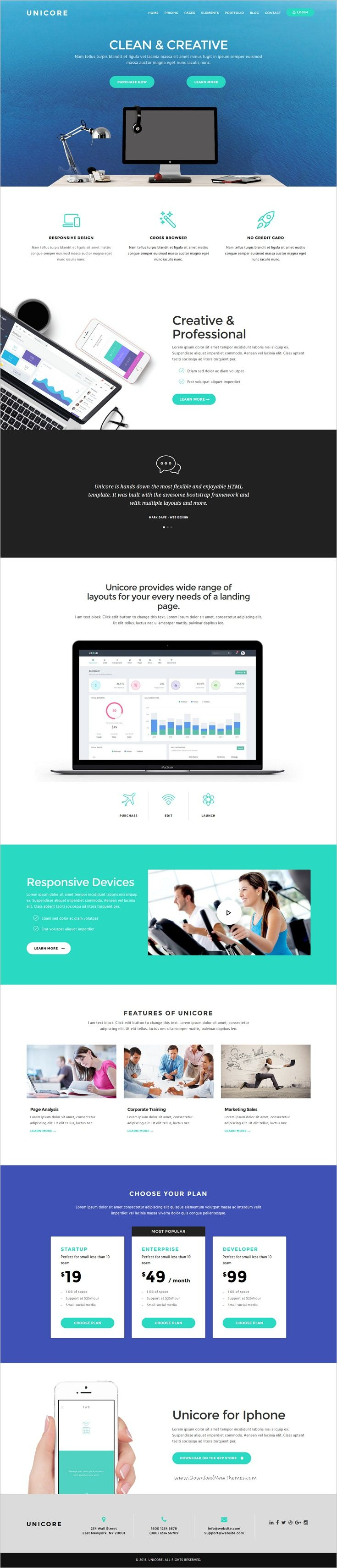 Unicore is a clean, modern, full-featured #WordPress theme for perfect #onepage Landing Page #website with 20 unique homepage layouts download now➩ https://themeforest.net/item/unicore-wordpress-bootstrap-landing-page-theme/17162399?ref=Datasata