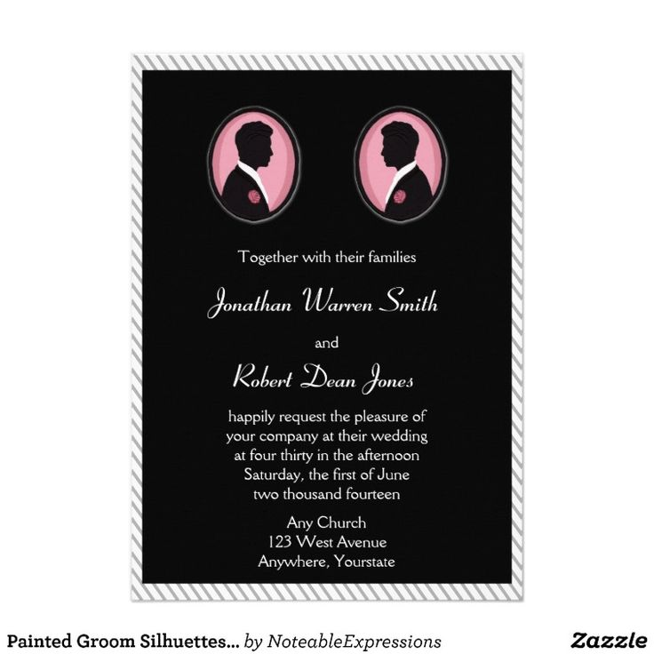 44 best lgbt gay wedding invitations images on pinterest bridal painted groom silhouettes gay wedding invitation stopboris Images