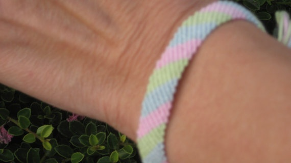 Green Blue and Pink  Friendship Bracelet by SaxophoneChick on Etsy, $5.00