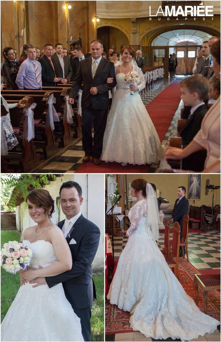 Uceda esküvői ruha - Pronovias kollekció - Nóra menyasszonyunk - La Mariée Budapest http://lamariee.hu/eskuvoi-ruha/pronovias-od/uceda