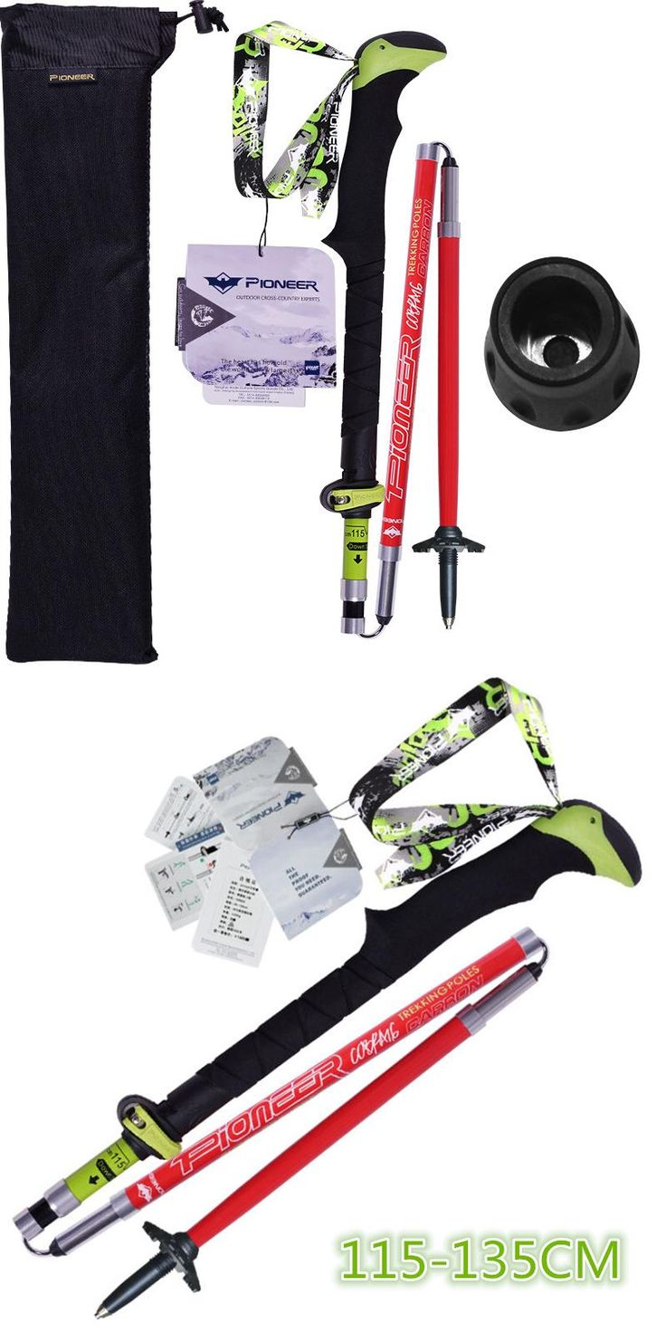 [Visit to Buy] Pioneer Hiking Pole Trekking Sticks Climbing Walking Trekking Poles Carbon Fiber Folding Nordic Walking Sticks Cane #Advertisement