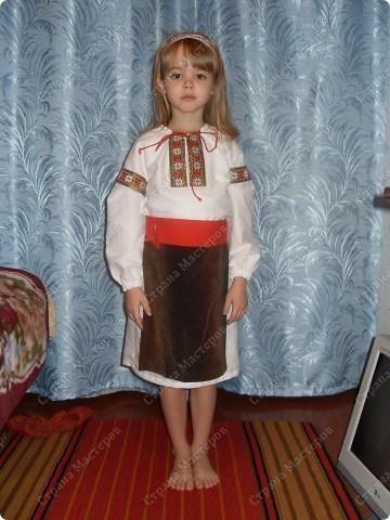 Украинский костюм для девочки своими руками