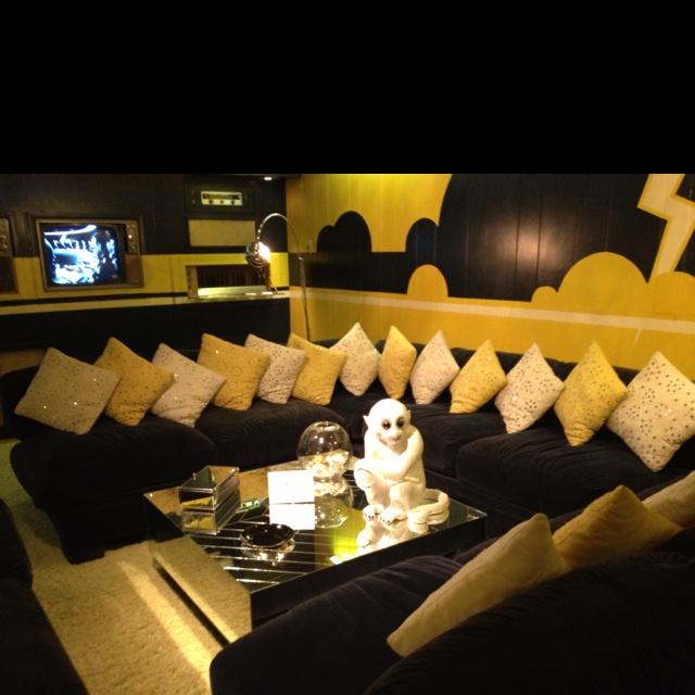 """Graceland...best room in the house...basement """"media room"""""""