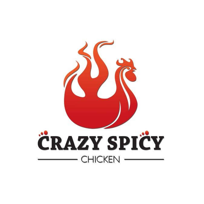 Create a logo for new restaurant that serves spicy fried chicken by pyroman92