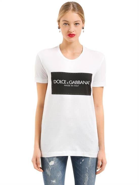 dolce   gabbana - t-shirts - women - spring summer 2018   Tişört ... 5ec4ab048e