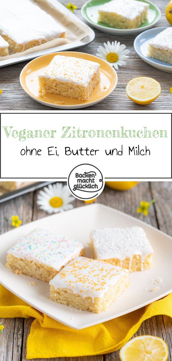 Veganer Zitronenkuchen   – Vegane Backrezepte