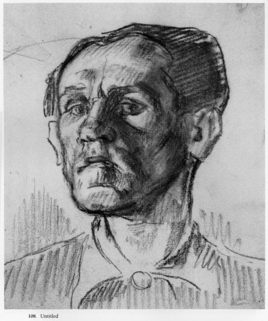BRUNO SCHULZ, UNTITLED SELF-PORTRAIT. Courtesy of the Estate of Bruno Schulz