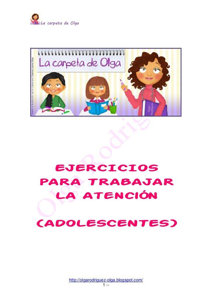 La carpeta de olga ejercicios atención by Olga Rodríguez via slideshare
