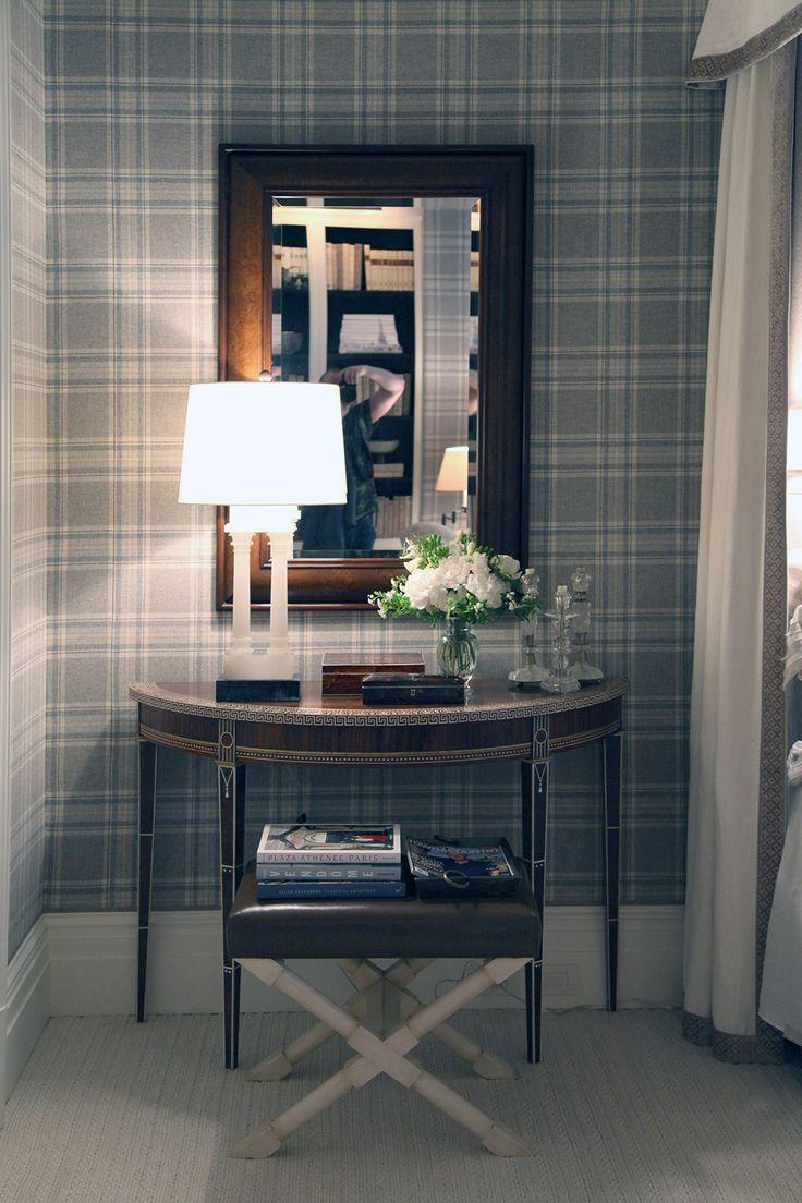 Grey Tartan Wallpaper Living Room - Homebase Wallpaper