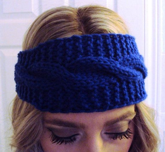 Hey, I found this really awesome Etsy listing at https://www.etsy.com/listing/173003060/royal-blue-knitted-taper-headband