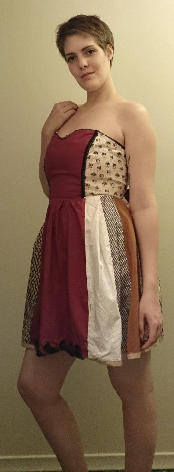 "Panel patchwork dress - $150.00 100% Cotton Size 10  Measurements: Bust- 34"" Waist- 31"" Hip- Not Necessary Length- 23 1/2"" (from bra line)"