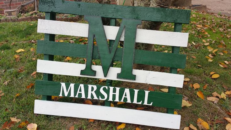 Marshall University Pallet Sign by JennsCountryBoutique on Etsy
