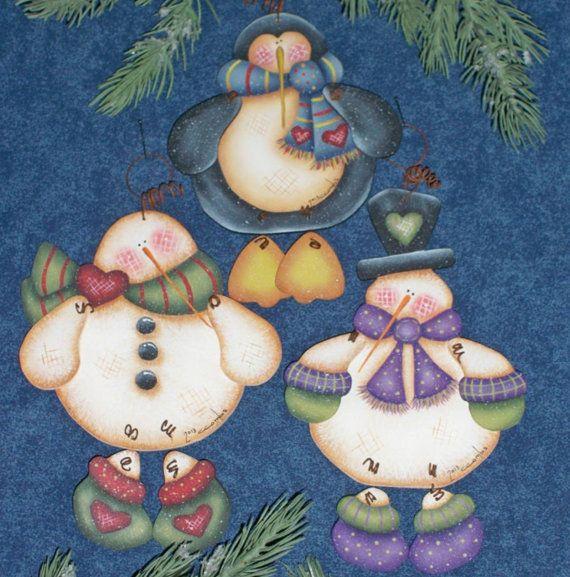 2 sets Winter Friends ornaments design by por OurPricelessTreasure
