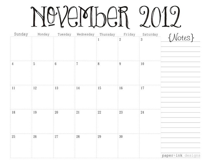 The 25+ best November printable calendar ideas on