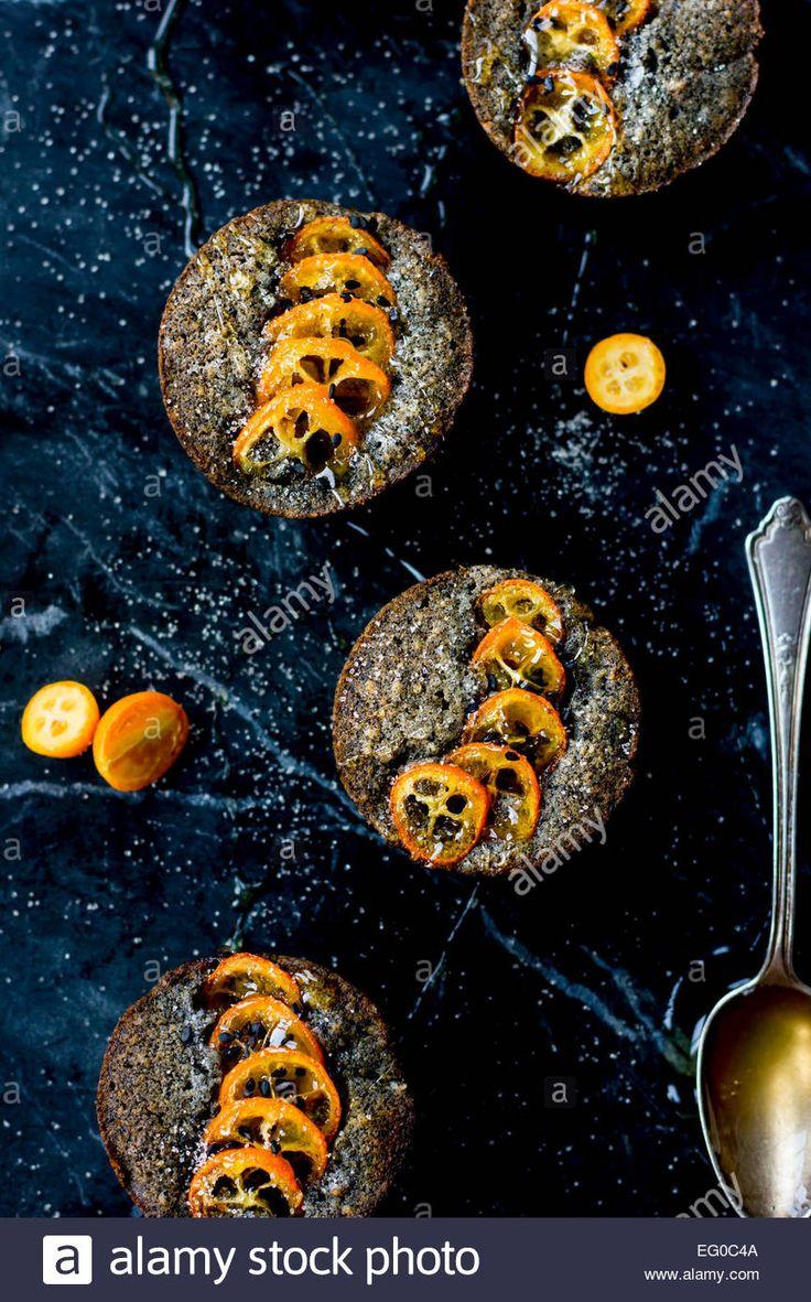 Kumquat And Black Sesame Cakes Stock Photo, Royalty Free Image: 78685498 - Alamy