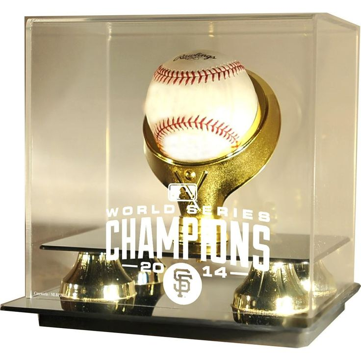 San Francisco Giants MLB 2014 World Series Champs Single Baseball Gold Ring Display