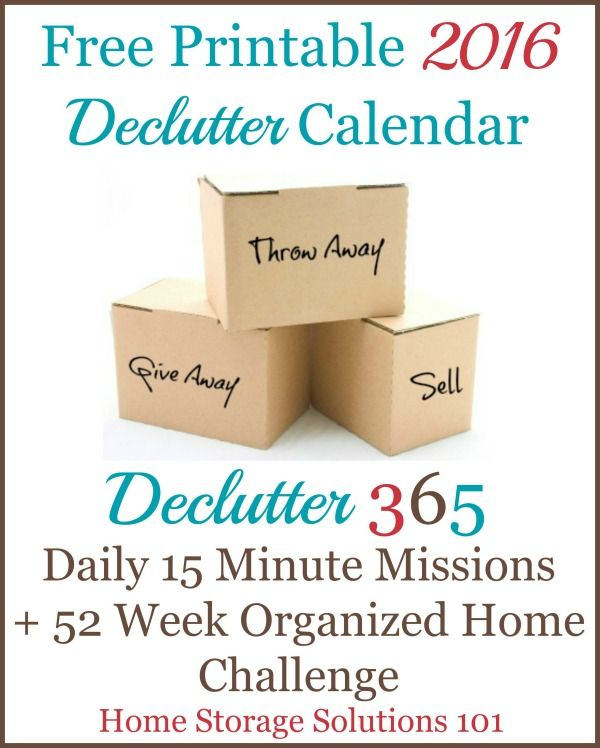 1000 images about declutter 365 on pinterest donation for Declutter house plan