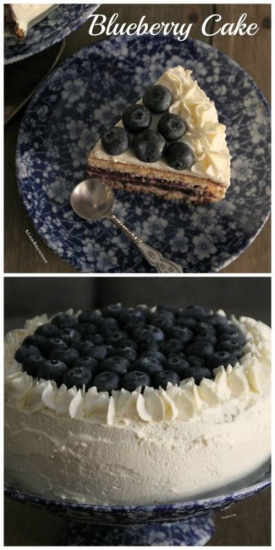 Blueberry Cake with Almond flour and Cream cheese.