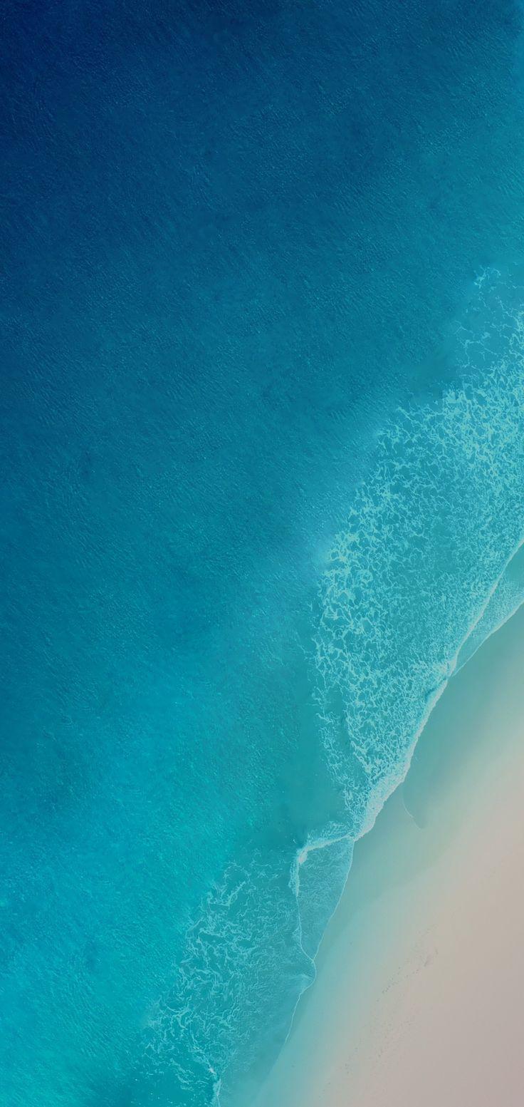 Ios 12 Iphone X Aqua Blue Water Ocean Apple Wallpaper Iphone 8 Cl Papel De Parede Azul Para Iphone Papel De Parede Para Iphone Papel De Parede Android