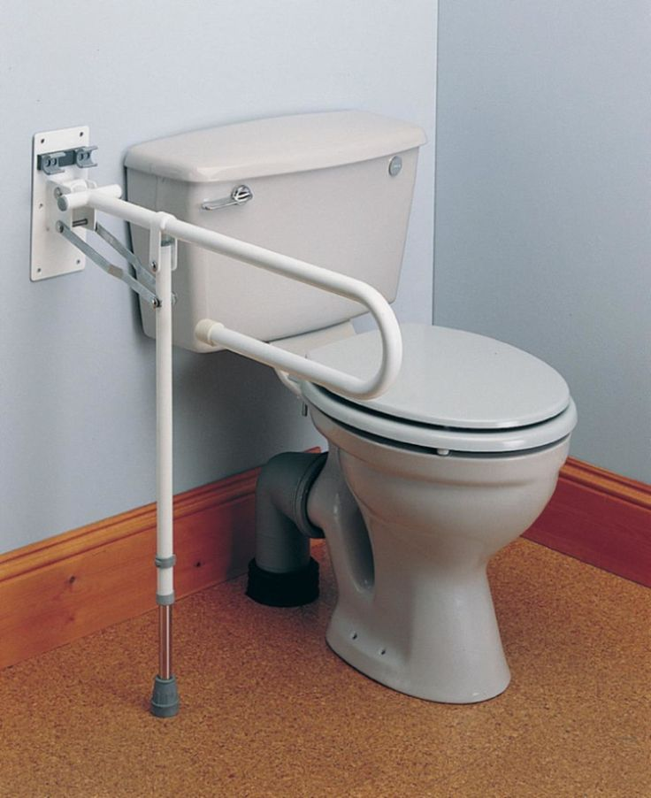 11 best handicap images on pinterest bathrooms grab - Handicap bars for bathroom toilet ...