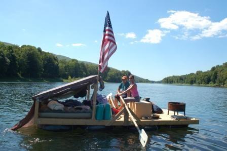 Home made inner tube raft