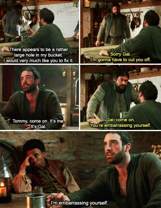 """I'm embarrassing yourself."" 