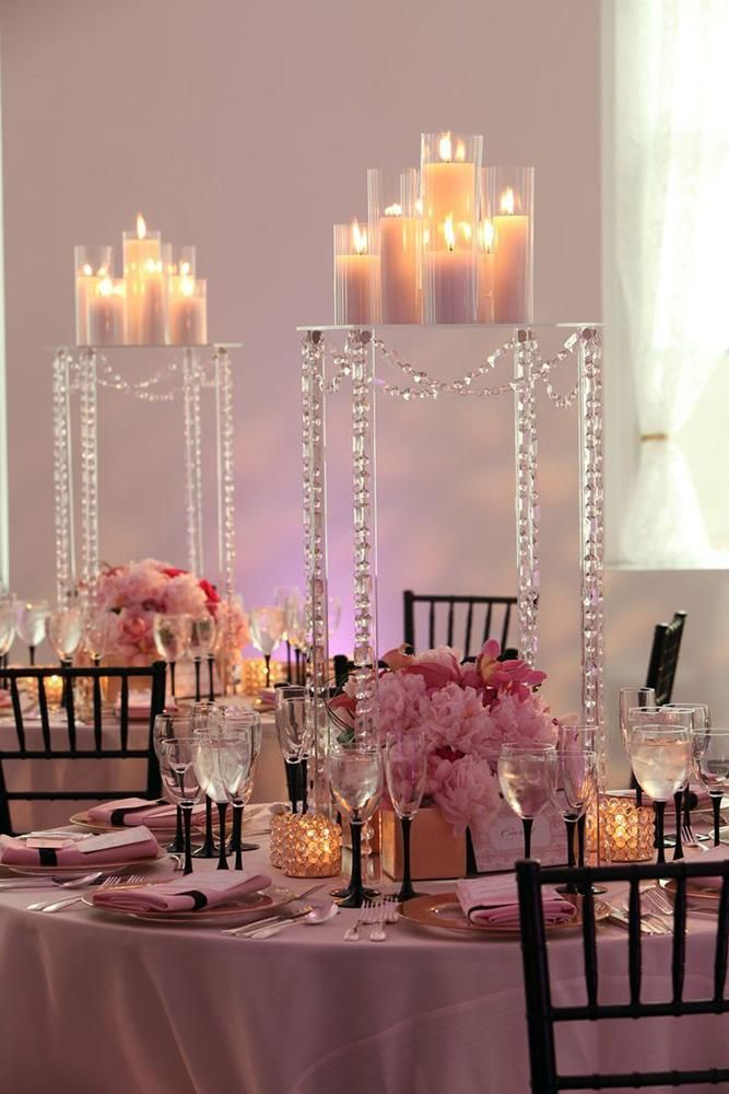 Home & Garden Romantic 10 Pcs 60cm Tall Flower Stand Wedding Table Centerpiececs Sliver Crystal Stages Pillars For Wedding Centerpiece With Led