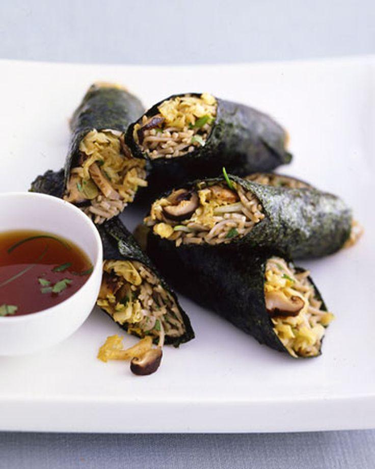 Shiitake Nori Rolls Recipe | Martha Stewart