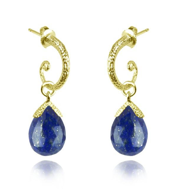 Vermeil Lapis Lazuli Earrings