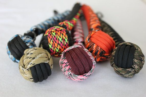 paracord monkey fist keychains  550 paracord by highplainsknotwork