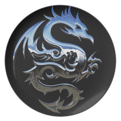 Chrome Dragon Plate - coffee custom unique special