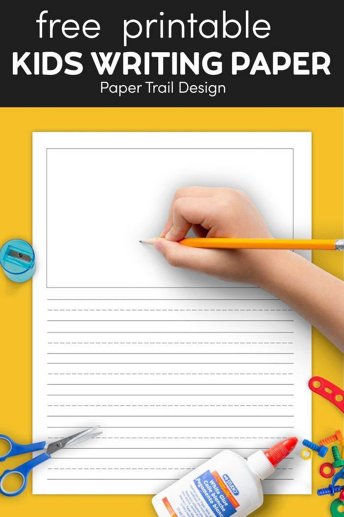 Free Printable Lined Writing Paper With Drawing Box Paper Trail Design Lined Writing Paper Writing Paper Paper Trail