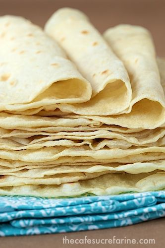 Homemade Flour Tortillas Need: 3 C flour; 1 tsp salt; 1 tsp baking powder; ⅓ C veg oil; 1 C warm water.
