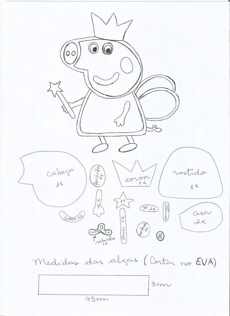 Lembrancinha Mochila Peppa Pig em EVA Um Artesanato em EVA super fácil que é uma Lembrancinha Mochila Peppe Pig em EVA. Materiais ...