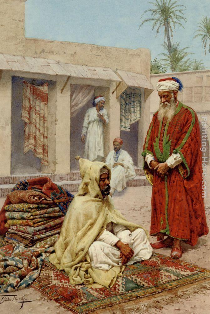 The Rug Merchant by Giulio Rosati
