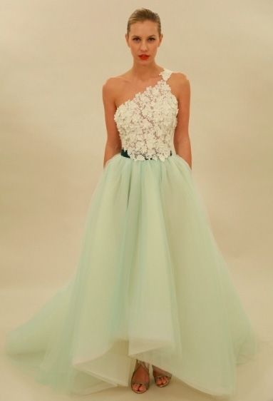 Beautiful colourful wedding dresses: Edgardo Bonilla