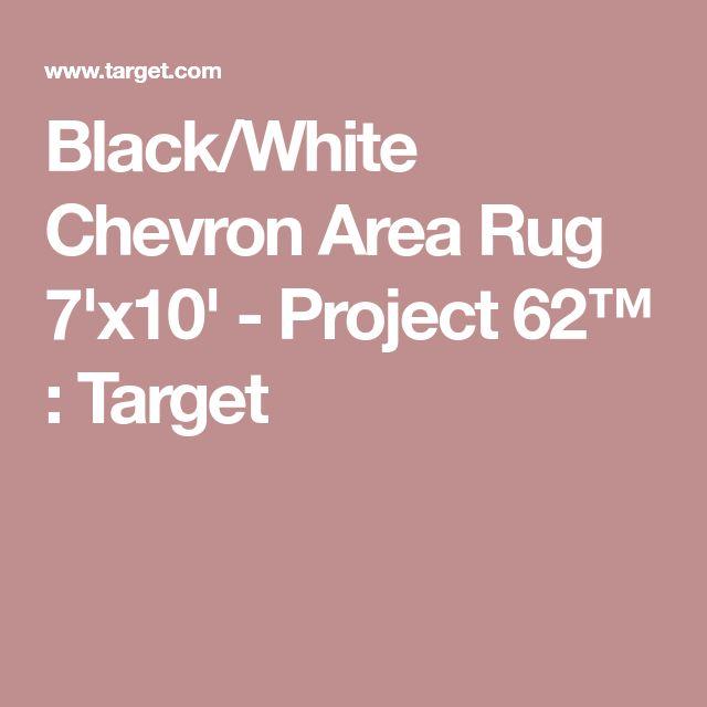 Black/White Chevron Area Rug 7'x10' - Project 62™ : Target