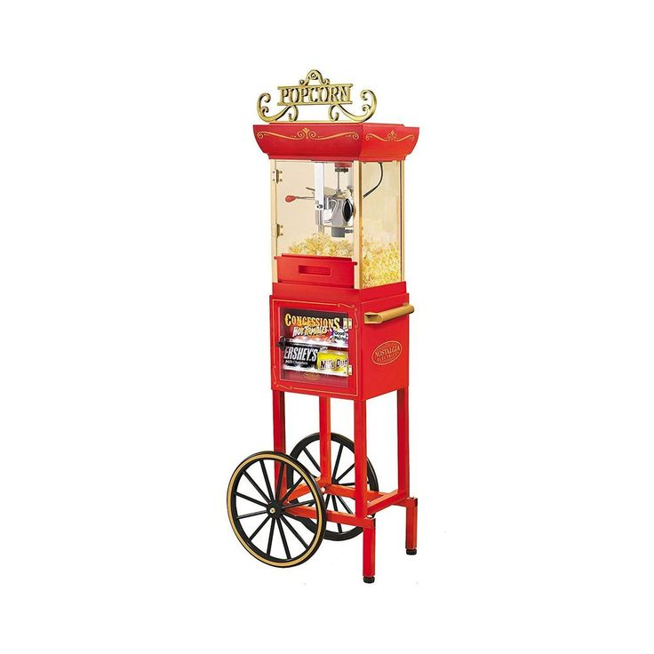 Nostalgia Electric Old-Fashioned Movie Man Cave Popcorn Machine Concession Stand #NostalgiaElectrics