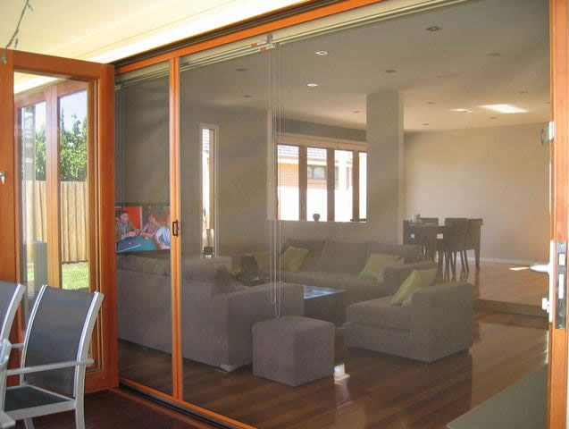 Double Door Flyscreens and timber french doors