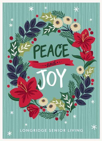 Elizabeth Silver: Business Holiday Cards - Festive Wreath